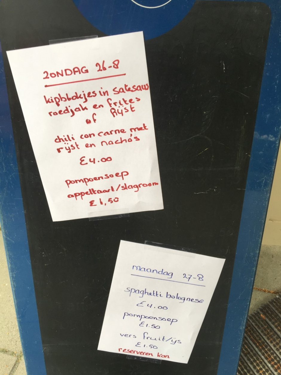 JSCK 2018 Maaltijden (Zondag 26-8)