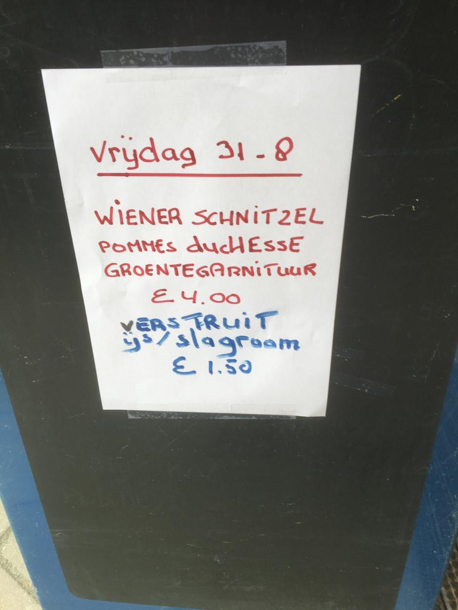 JSCK 2018 Maaltijden (Vrijdag 31-8)