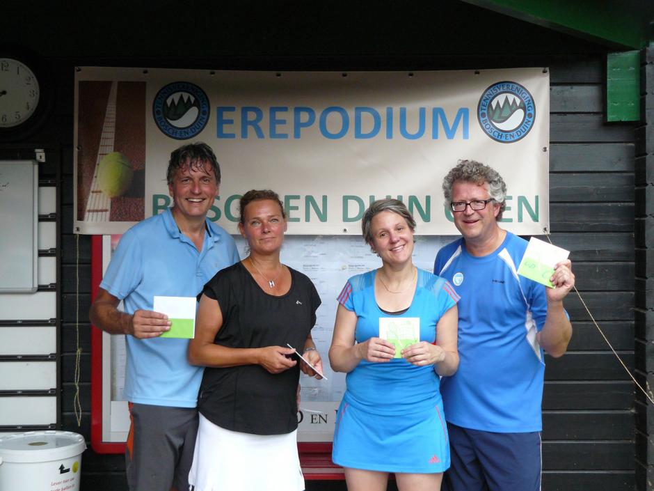 TVBD OT 2018 - GD 35+ C: 1e Jordan van Vilsteren en Marjon van Oostveen - 2e Alain van den Berg en Anne Hardon